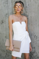 8 Worth Everything White Dress at reddressboutique.com