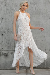 2 Strive For It White Lace High-Low Dress at reddressboutique.com