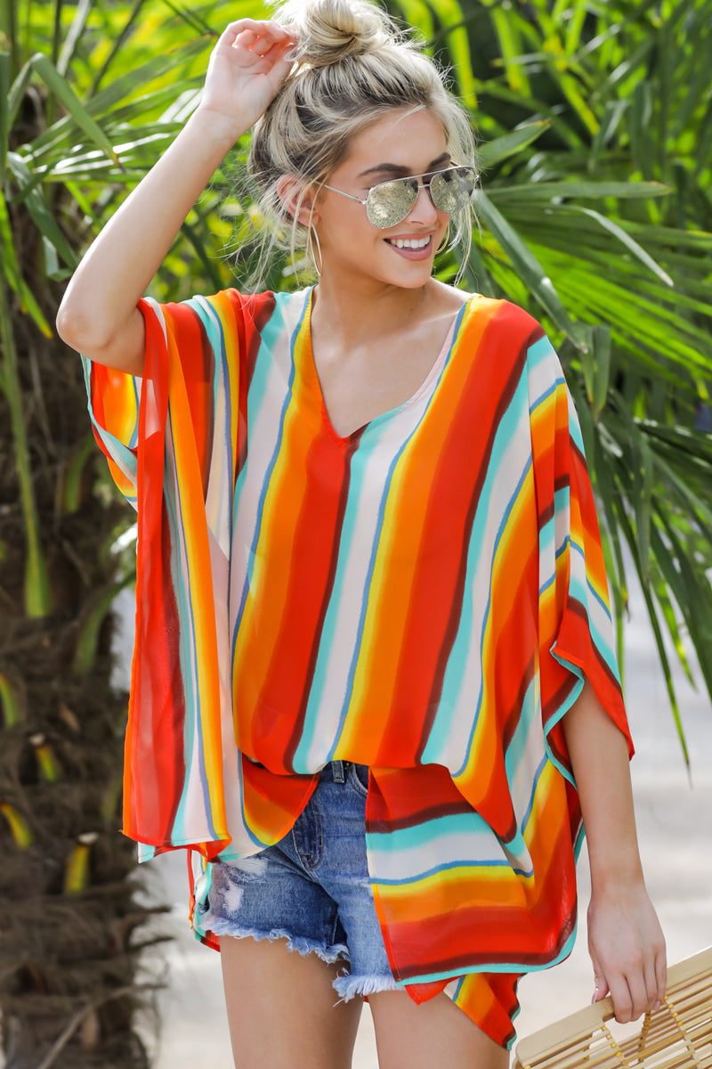 8 Sure Thing Poncho In Summer Heat at reddressboutique.com