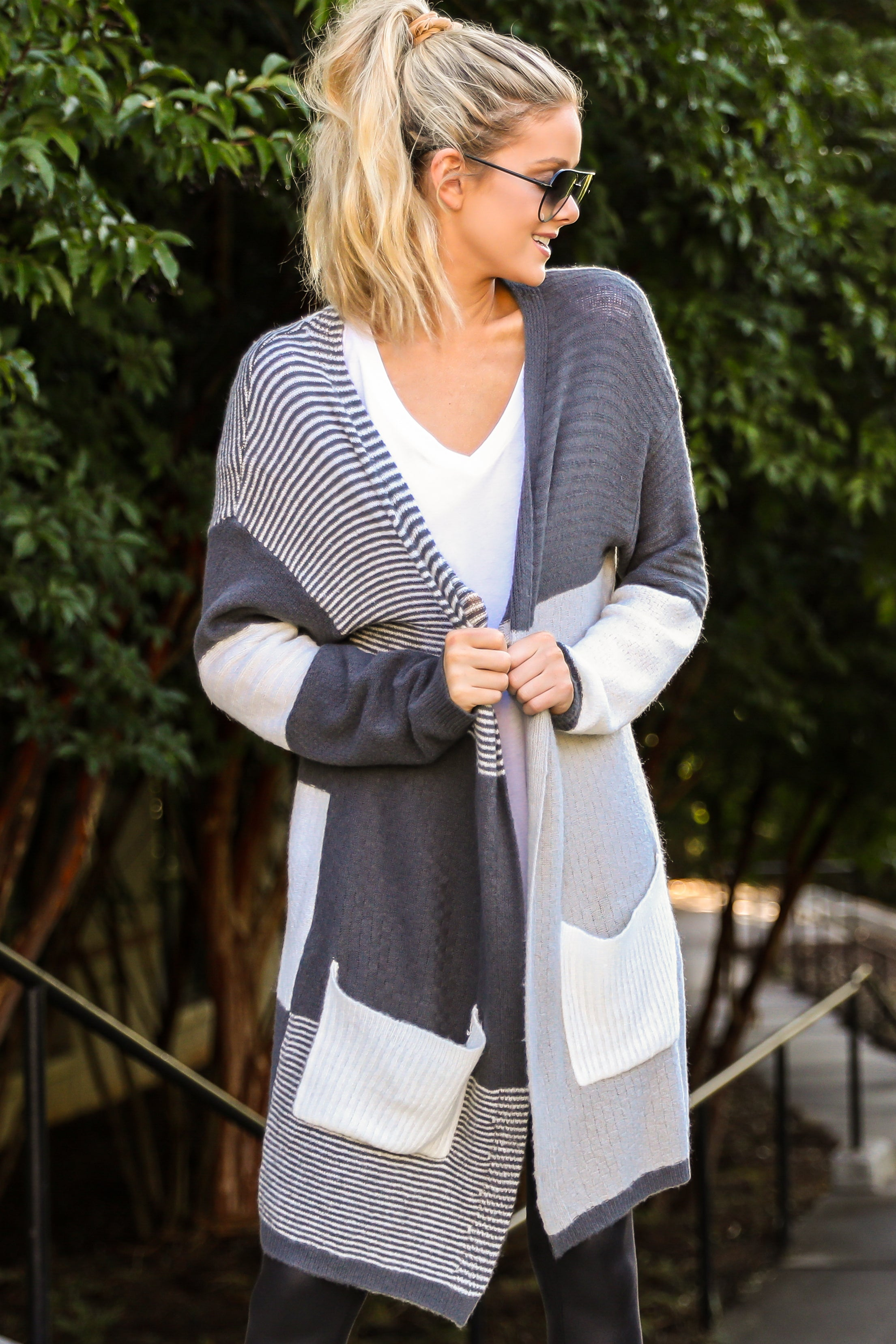 3 In Your Comfort Zone Grey Multi Cardigan at reddress.com