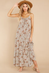 2 Fallen For You Sage And Rust Multi Print Maxi Dress at reddress.com