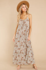 6 Fallen For You Sage And Rust Multi Print Maxi Dress at reddress.com