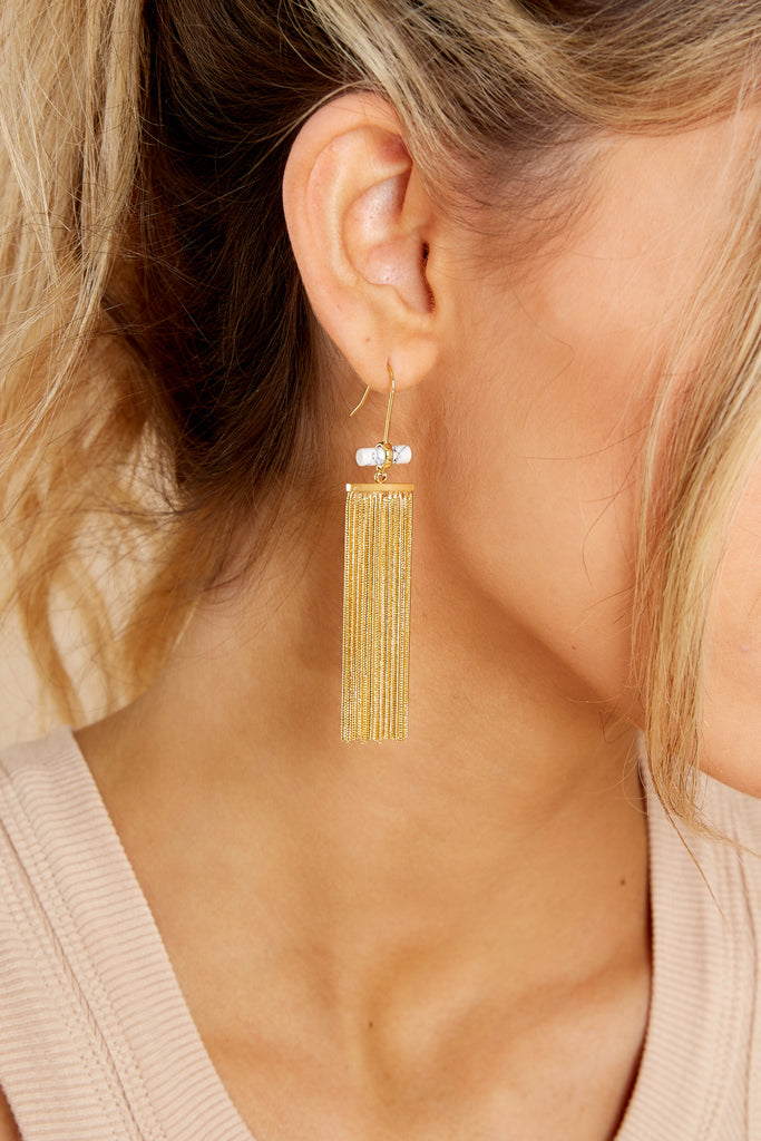 1 Bamboo Gold Hoops at reddress.com