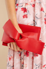 1 Make It Even Red Clutch, at reddress.com