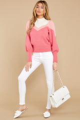 4 You've Got Me Pink Multi Sweater at reddressboutique.com