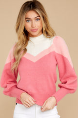 7 You've Got Me Pink Multi Sweater at reddressboutique.com