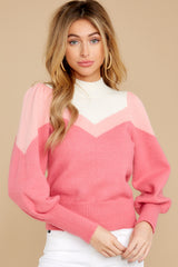 8 You've Got Me Pink Multi Sweater at reddressboutique.com