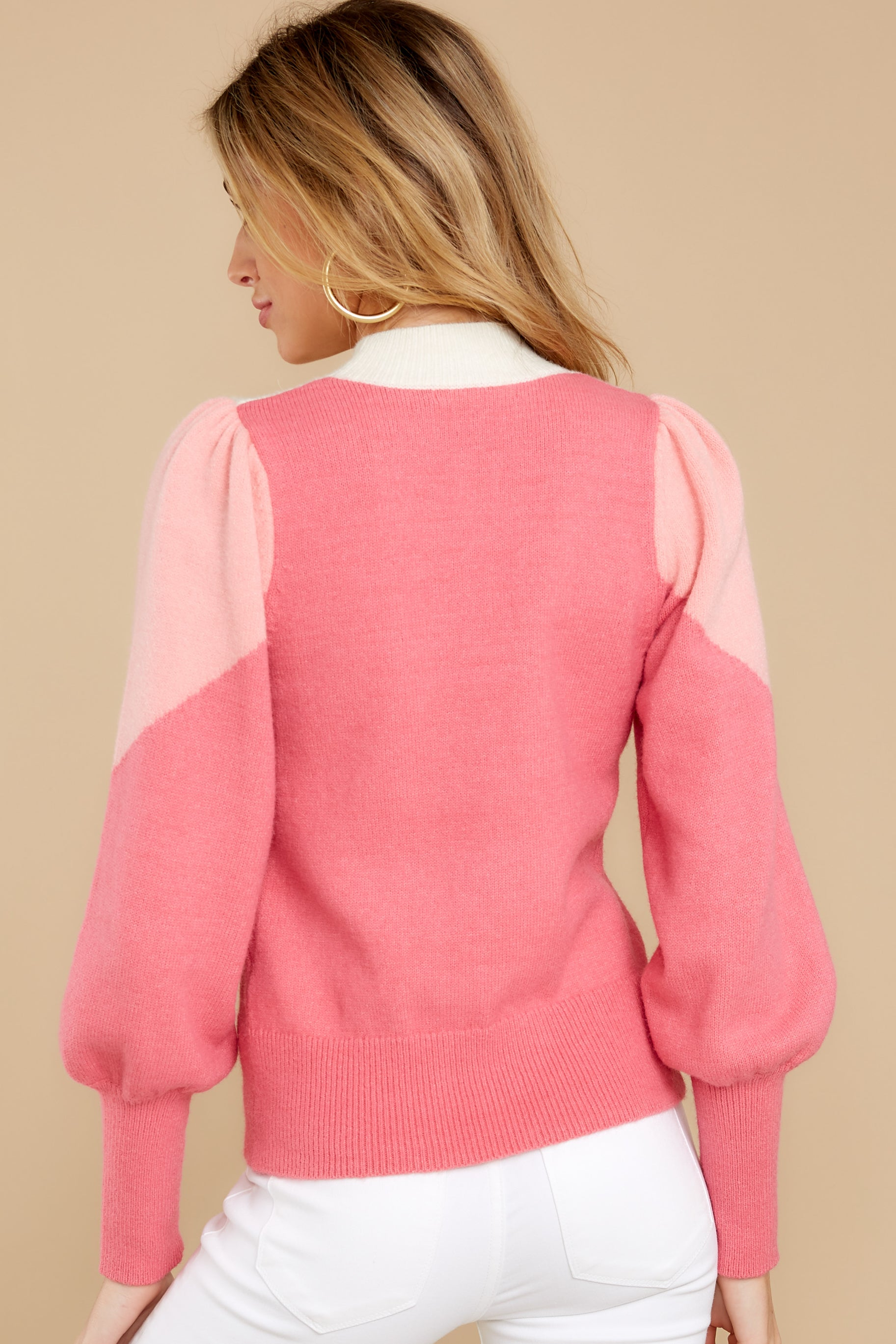 9 You've Got Me Pink Multi Sweater at reddressboutique.com