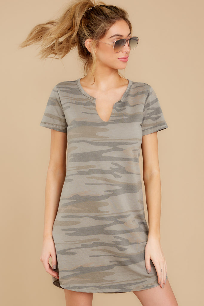 1 Make It A Date Night Sage Green Print Dress at reddressboutique.com