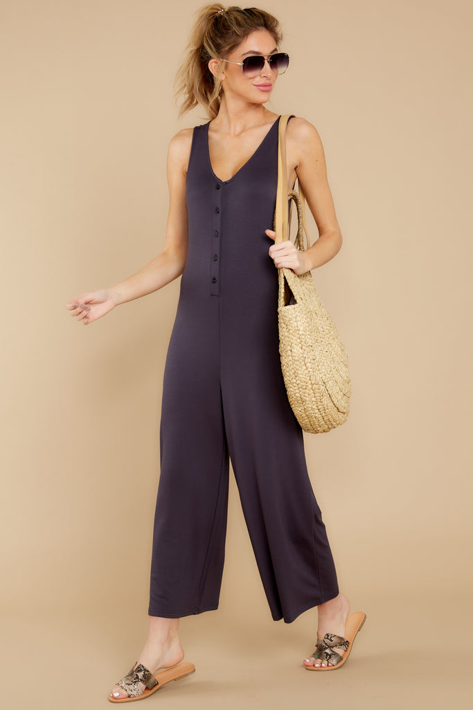 The Black Wrap Front Jumpsuit