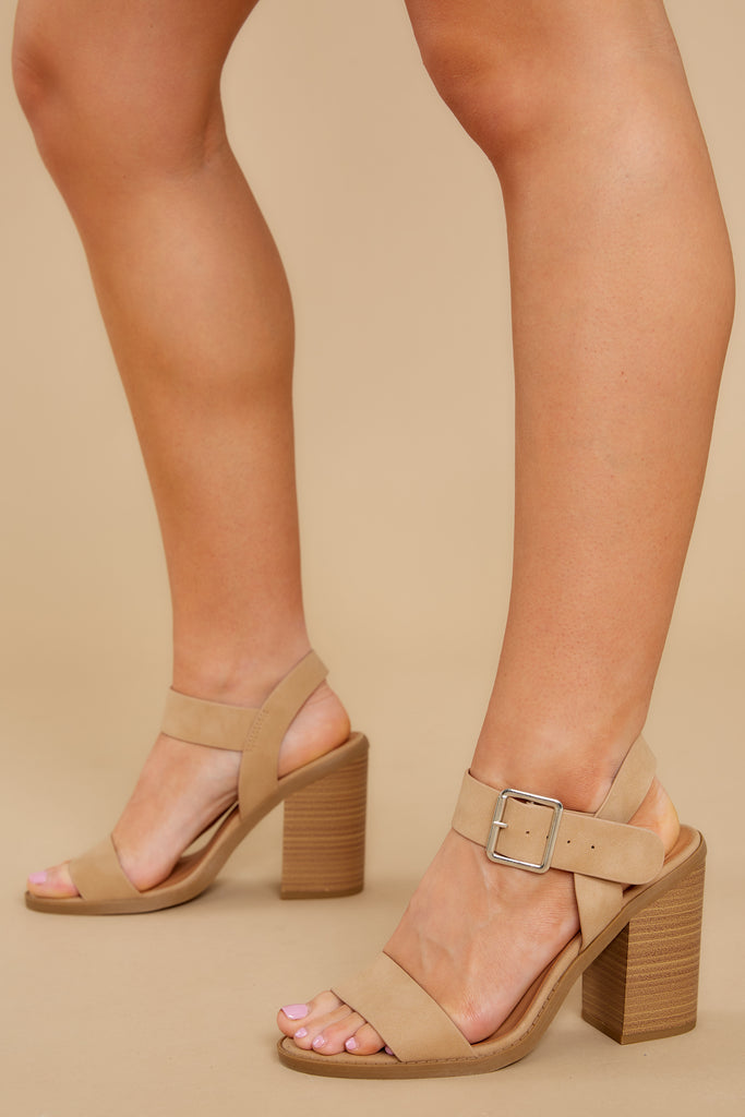1 It's Your Moment Nude Ankle Strap Heels at reddress.com