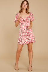 2 My Promenade Red Floral Print Dress at reddress.com