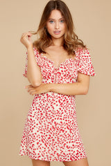 1 My Promenade Red Floral Print Dress at reddress.com