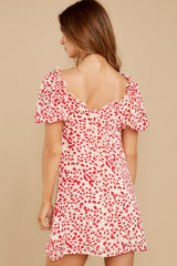 8 My Promenade Red Floral Print Dress at reddress.com