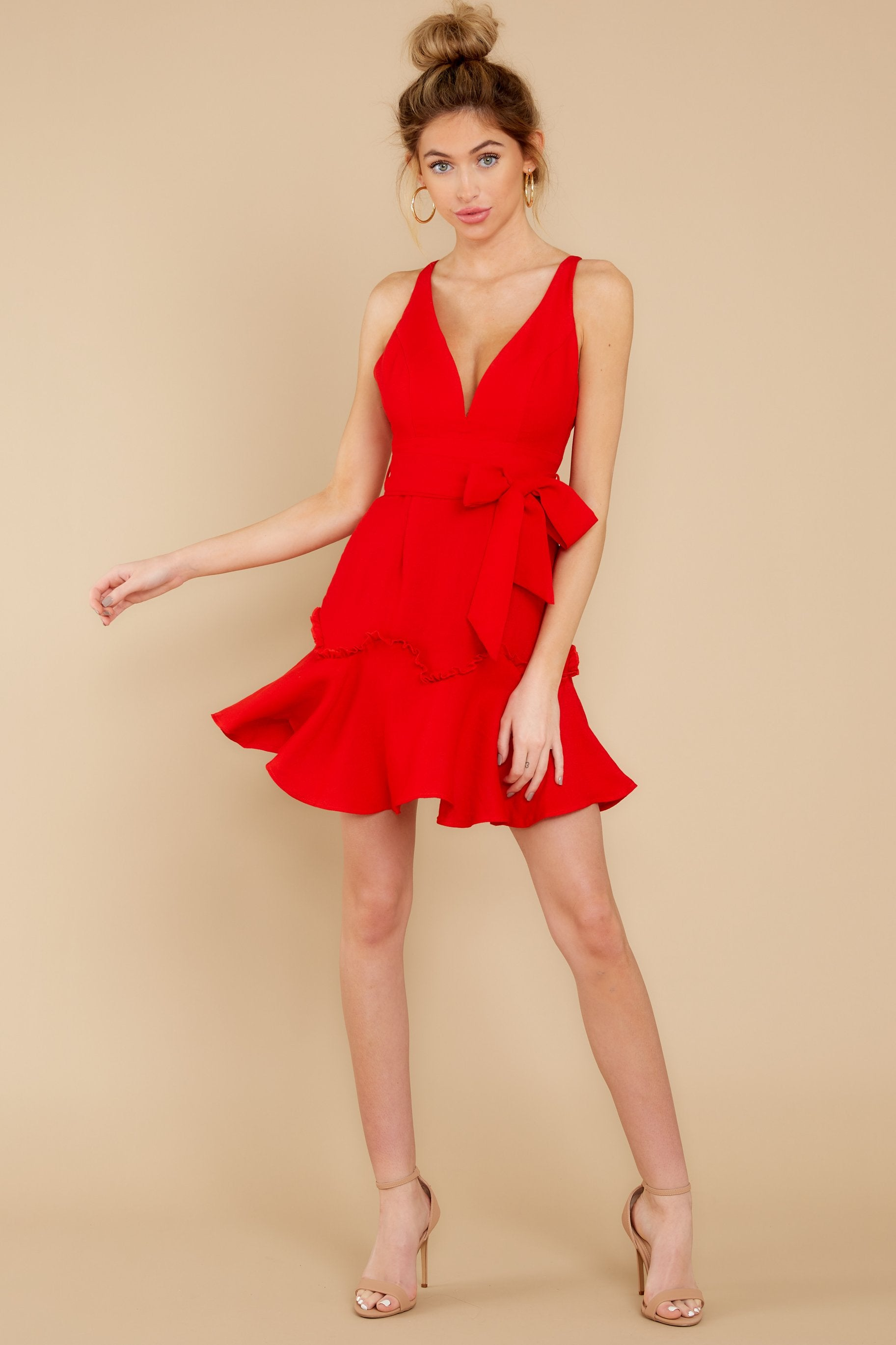 1 Hearts Aflame Red Dress at reddressboutique.com