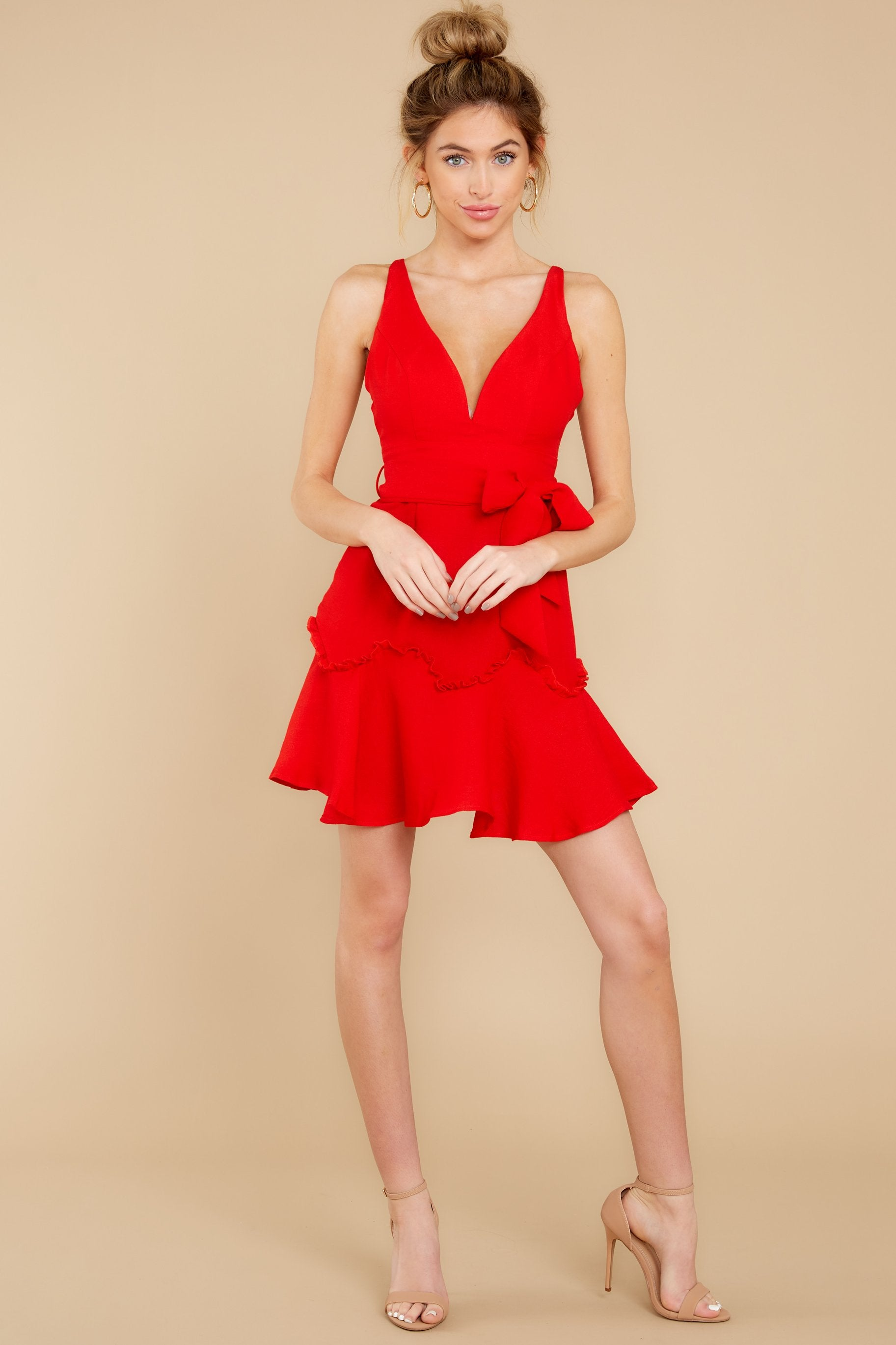 3 Hearts Aflame Red Dress at reddressboutique.com