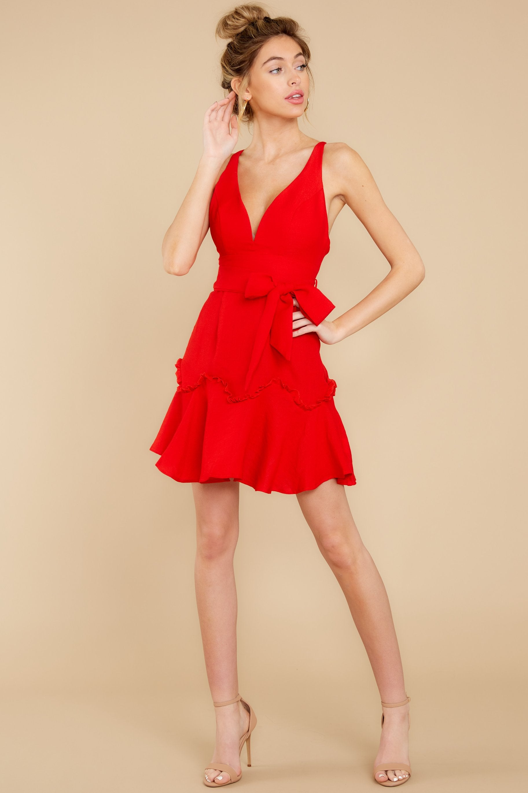 2 Hearts Aflame Red Dress at reddressboutique.com