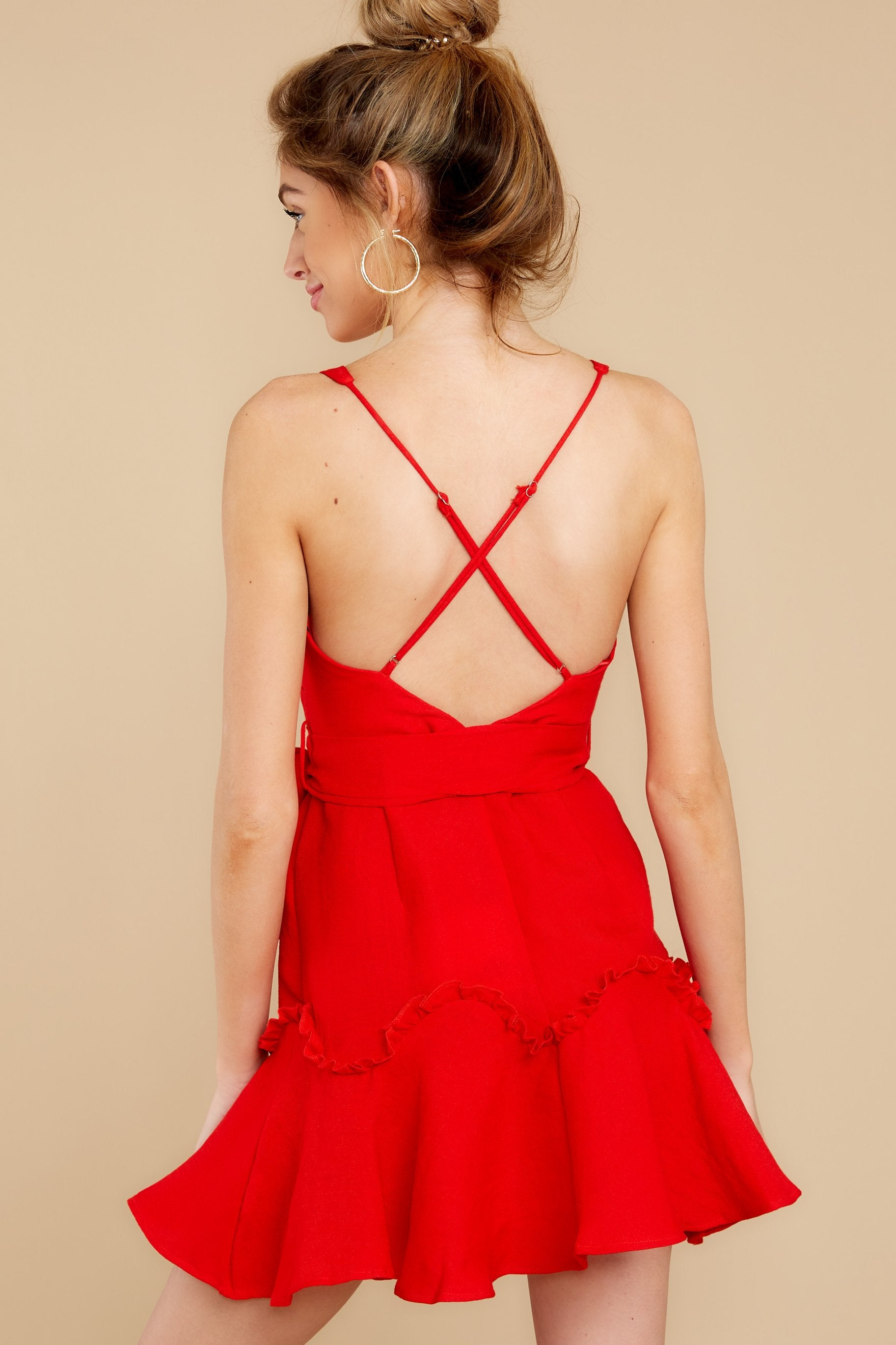 7 Hearts Aflame Red Dress at reddressboutique.com
