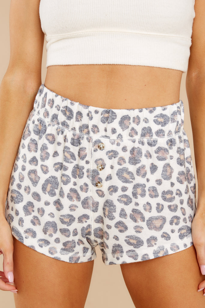 1 Briee Bone Leopard Shorts at reddress.com