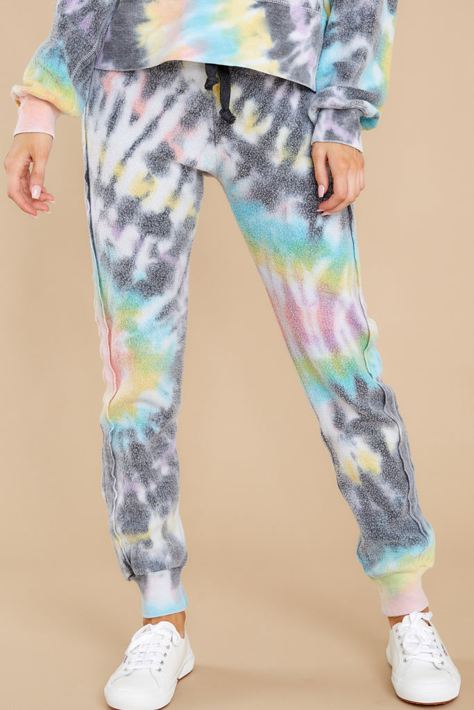 1 Just Sweet Enough Grey Multi Tie Dye Sweatshirt at reddress.com