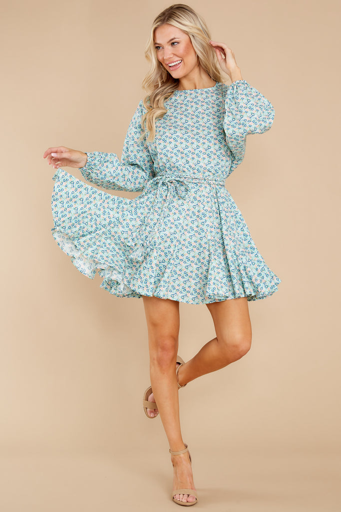 1 Audette Acai Berry Floral Print Dress at reddress.com