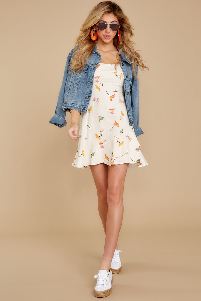1 Like The Wind Ivory Print Dress at reddressboutique.com