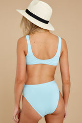 4 Feel The Sunshine Light Blue Bikini Bottoms at reddress.com