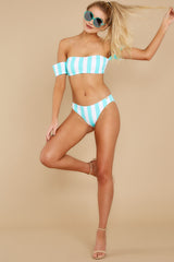 2 Never Want To Leave Island Blue Stripe Bikini Top at reddressboutique.com