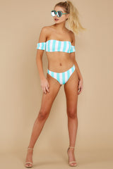 4 Never Want To Leave Island Blue Stripe Bikini Top at reddressboutique.com