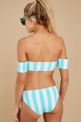 8 Never Want To Leave Island Blue Stripe Bikini Top at reddressboutique.com