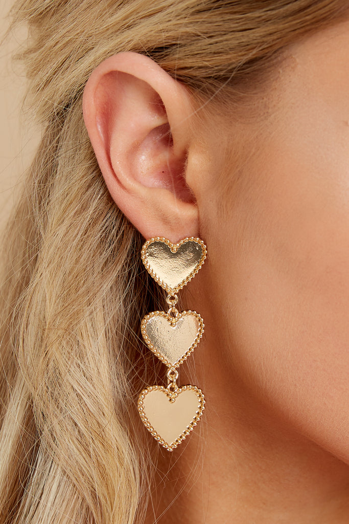 1 The Flare Necessities Gold Bar Earrings @ reddress.com