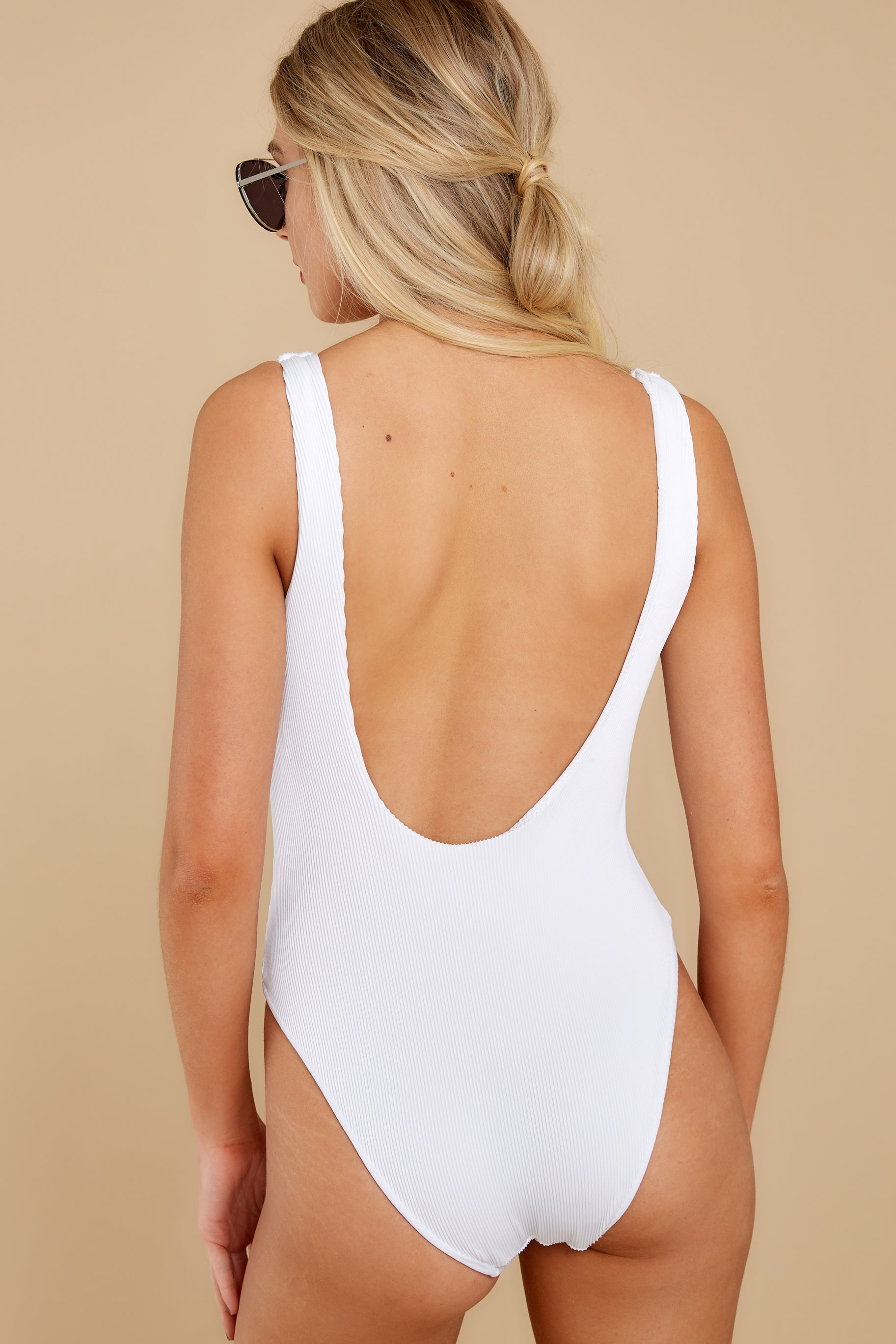 10 Coasting By White One Piece Swimsuit at reddress.com