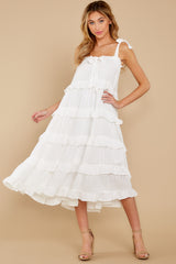 2 Never Say Never White Midi Dress at reddress.com