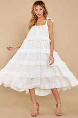 3 Never Say Never White Midi Dress at reddress.com