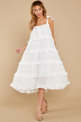 4 Never Say Never White Midi Dress at reddress.com