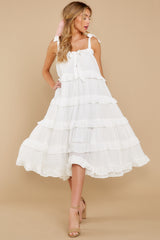 5 Never Say Never White Midi Dress at reddress.com