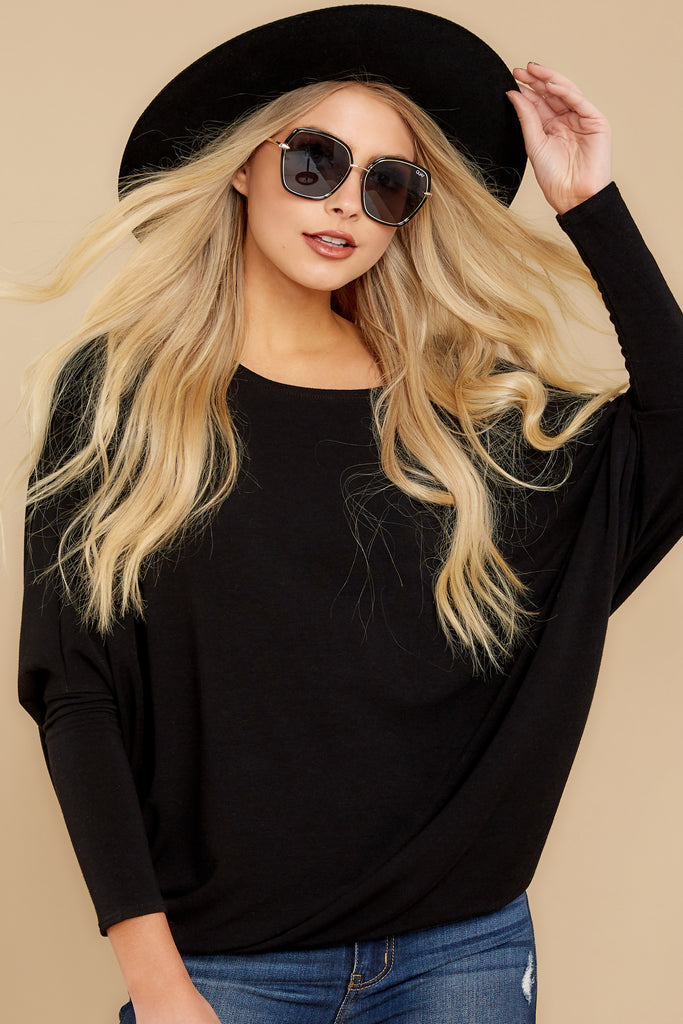 1 Wind Down Black Sweater at reddress.com