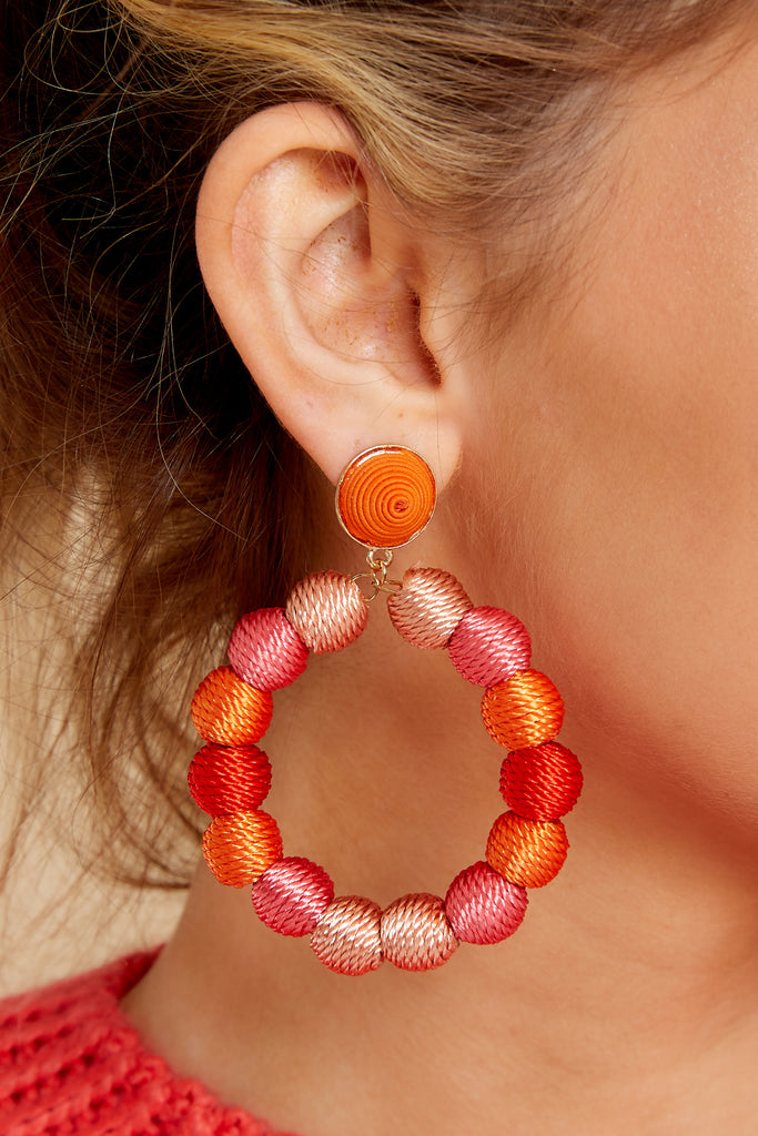 1 Having Fun Bright Red Beaded Earrings at reddress.com