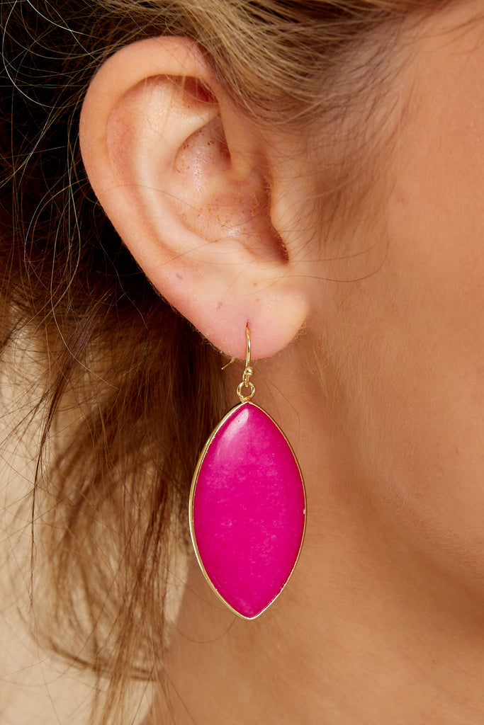 4 Phoenix Rising Hot Pink Multi Earrings at reddressboutique.com