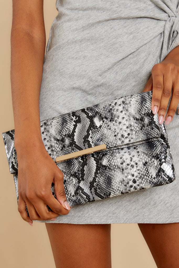 5 Going Out Grey Clutch at reddress.com