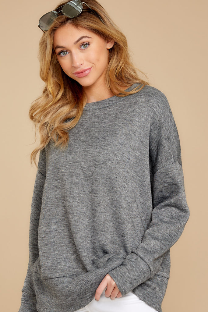 1 Casual For The Day Grey Top at reddress.com