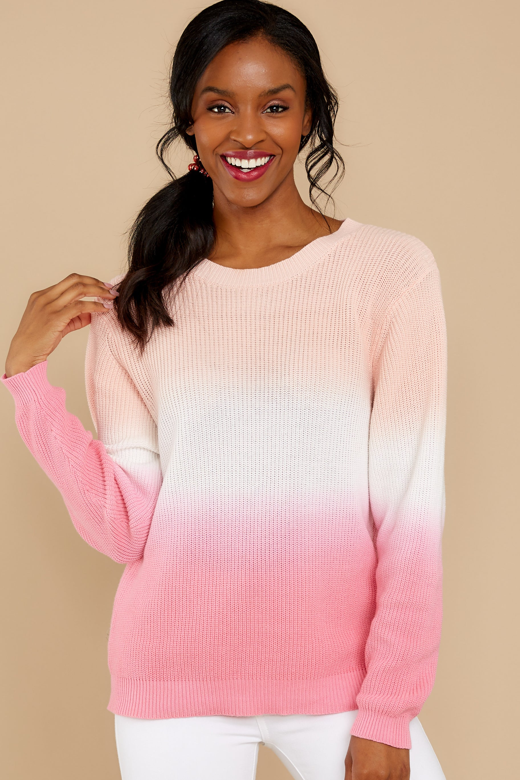 80s Sweatshirts and Sweaters Always Easy Going Pink Tie Dye Sweater $54.00 AT vintagedancer.com