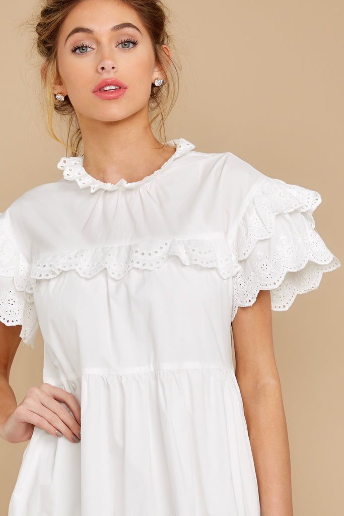 1 Better To Be Sweet White Eyelet Dress at reddress.com