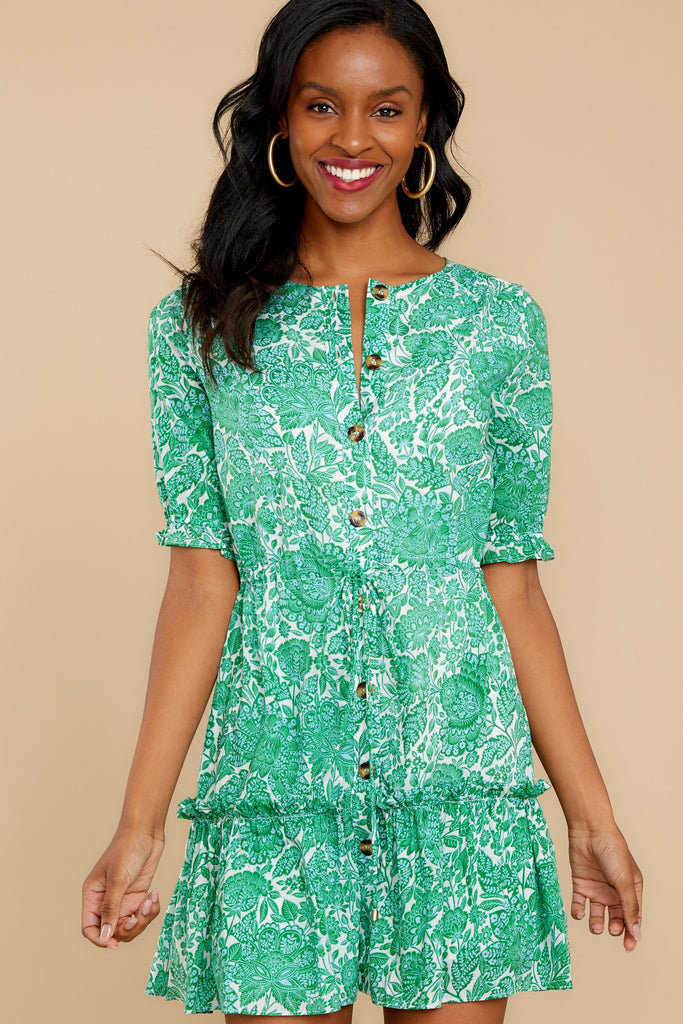 1 Little Victories Mint Print Dress at reddressboutique.com
