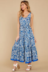6 Noticing You Blue Multi Print Maxi Dress at reddress.com
