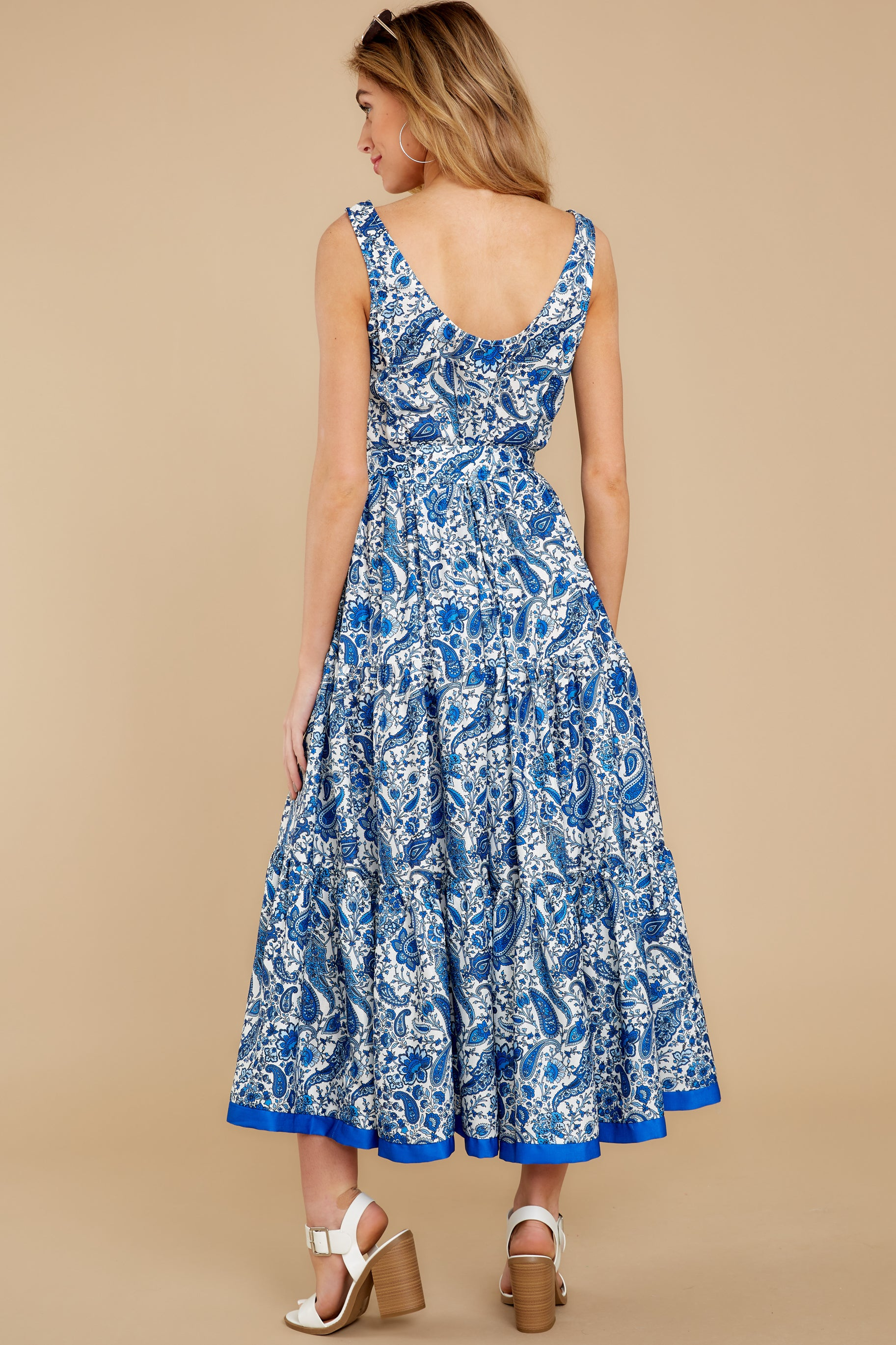 8 Noticing You Blue Multi Print Maxi Dress at reddress.com