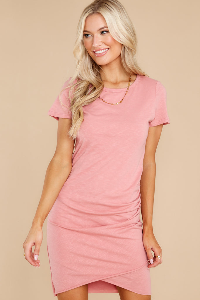 1 In The Scene Dusty Rose Dress at reddress.com