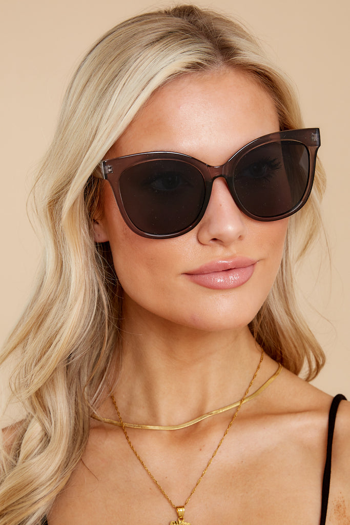 1 Glamorous Glance Ivory Tortoise Brown Fade Sunglasses at reddress.com