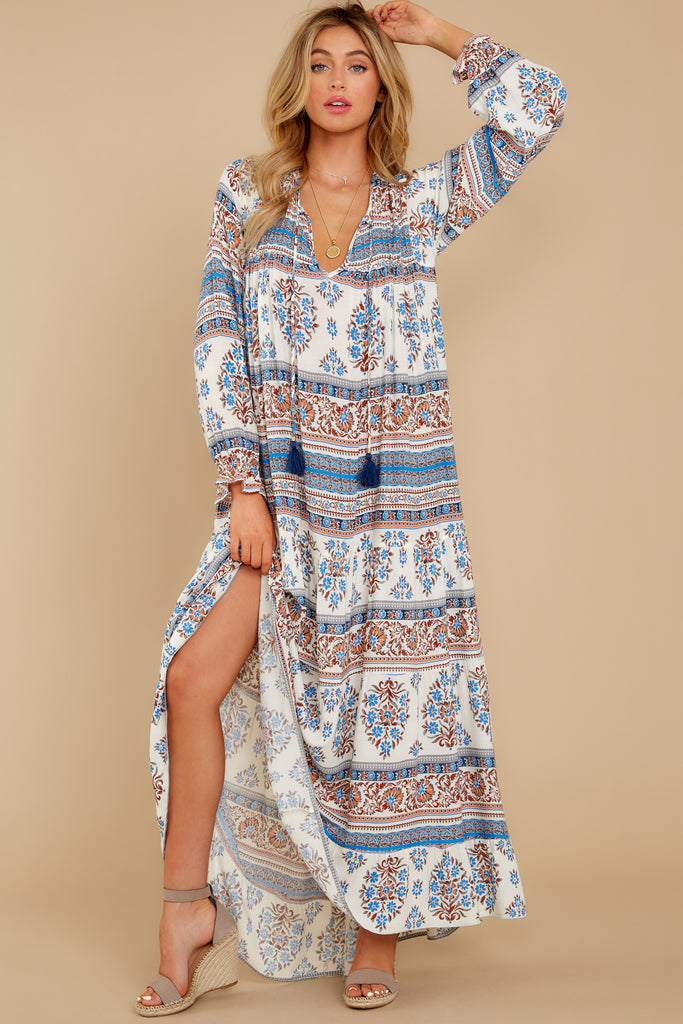 1 All My Love Light Blue Multi Maxi Dress at reddress.com