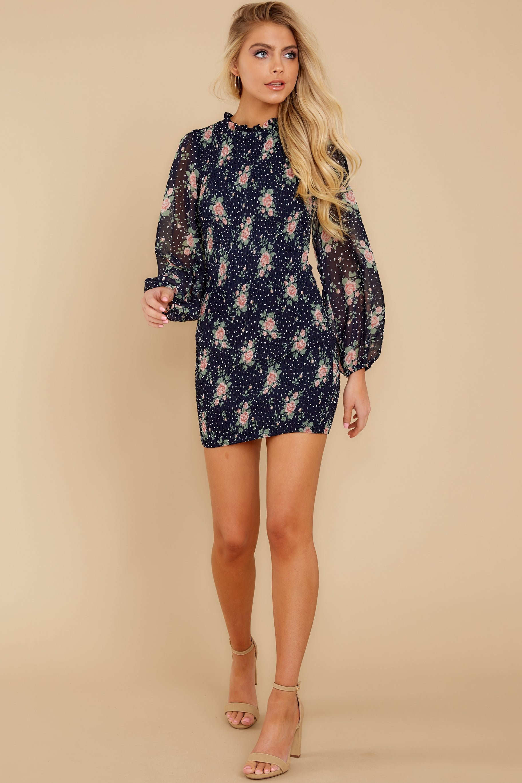 2 No Greater Love Navy Floral Print Dress at reddress.com